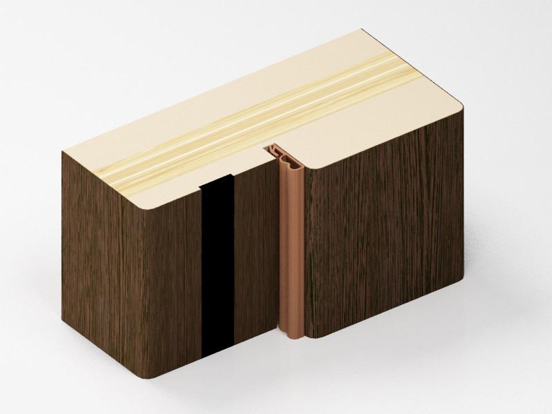 Коробка для полотен толщиной 40 мм без паза под добор.
